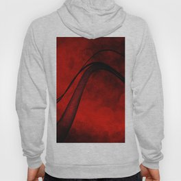 Rouge Crosshatched Wave Hoody
