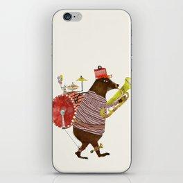 one bear band iPhone Skin
