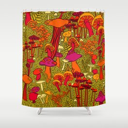 Mushrooms in the Forest Shower Curtain