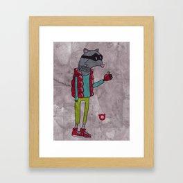 006_raccoon Framed Art Print
