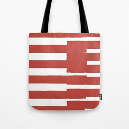 Big Stripes In Red Tote Bag