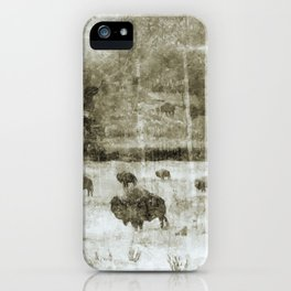 Yellowstone National Park - The Gathering iPhone Case