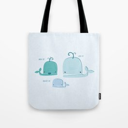 whale family Tote Bag