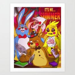 FNAF Summer (Toys version) Art Print