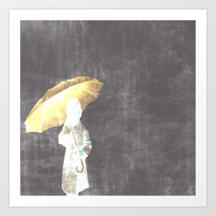 Umbrella and Light Art Print