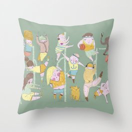 good morning sunshines, lets exercise! Throw Pillow