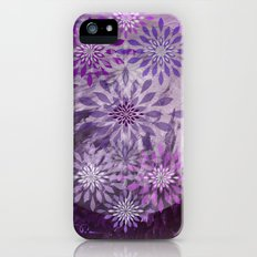 LACE AND LEATHER - Underwear Love Project Deep Purple Lace Pattern Fancy Elegant Typography Abstract Slim Case iPhone (5, 5s)