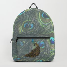 Peacock Feather Lovers Backpack