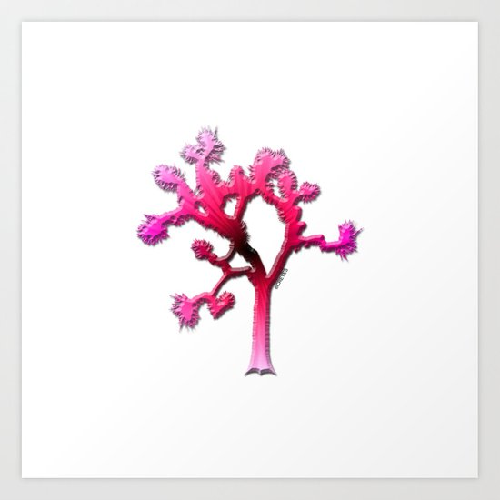Joshua Tree Strawberry Art Print