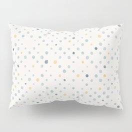 LOTS OF DOTS / milky white / phthalo blue / yellow ochre Pillow Sham
