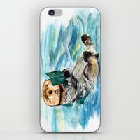otter iPhone & iPod Skins featuring Otter by Anna Shell