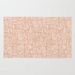 Fancy calligraphy Rug