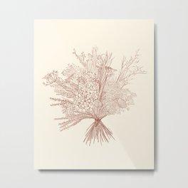 Bunch It (cream) Metal Print