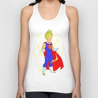 vegeta Tank Tops featuring SUPER VEGETA by Javier Guijarro