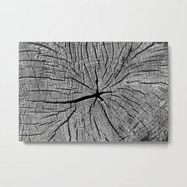 Weathered Old Wood Texture Metal Print