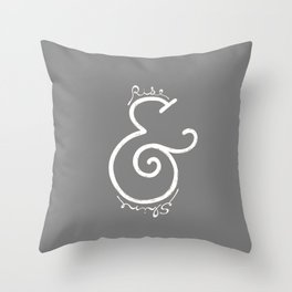"""rise & shine"" Ampersand Throw Pillow"