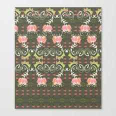 Lotus and some other squiggly lines  Canvas Print