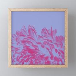 Floral Pink Positive Negative Framed Mini Art Print
