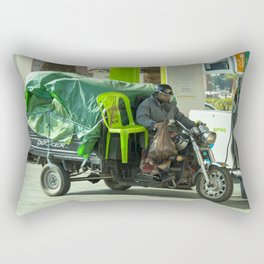 Come ride with me Rectangular Pillow