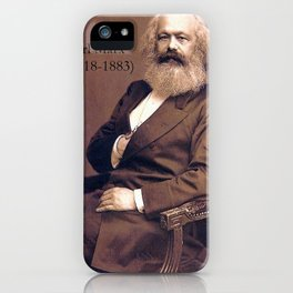 Portrait of Karl Marx by John Jabez Edwin Mayal iPhone Case