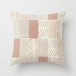Rustic Tiles 02 #society6 #pattern Throw Pillow