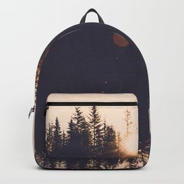Wooded Lake Reflection  - Nature Photography Backpack