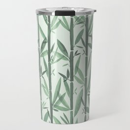 Bamboo Forest Watercolor Travel Mug