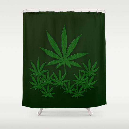 weed shower curtainleatherwood design | society6
