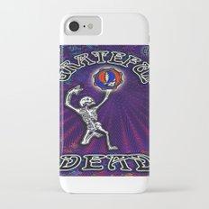 Grateful Dead Dancing Skeleton Beautiful Elegant Optical Illusion Design iPhone 7 Slim Case