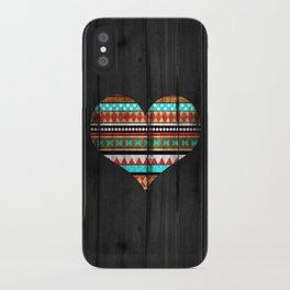 Aztec tribal heart iPhone Case