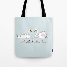 Seven Swans-a-Swimming Tote Bag