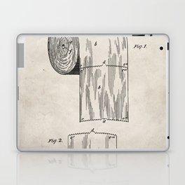 Toilet Paper Patent - Bathroom Art - Antique Laptop & iPad Skin