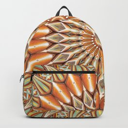 Heart of the Sunflower - Mandala Art Backpack