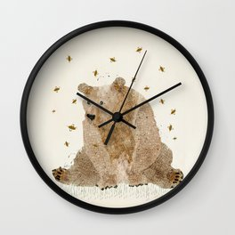 bear grizzly  Wall Clock