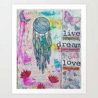 Live, Dream, Love Art Print