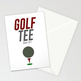 Golf Tee Pun Golfing Game Swing Ball Stationery Cards