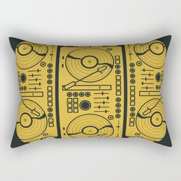 Music Gramophone Circle Rectangular Pillow