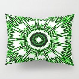 Green White Black Explosion Pillow Sham