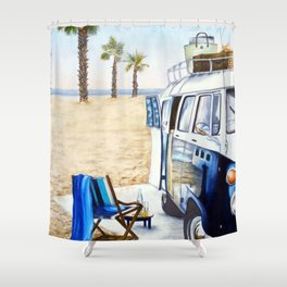 HOLIDAY AT THE BEACH Shower Curtain