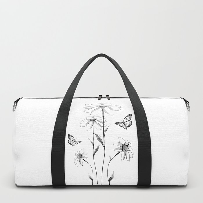 Flowers and butterflies 2 Duffle Bag