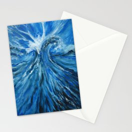 Ocean painting waves Stationery Cards