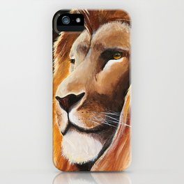 Animal - Lion - Quiet strength - by LiliFlore iPhone Case