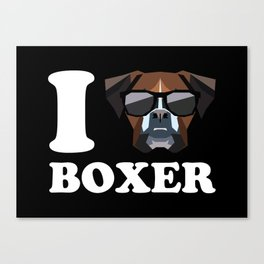I Love Boxer modern v2 Canvas Print