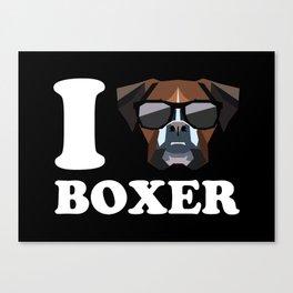 I Love Boxer modern v2 Canvas Print