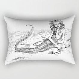 Undine: Creepy Mermaid Rectangular Pillow