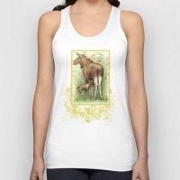 elk Tank Tops featuring Elk by Natalie Berman