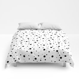 Black and White Polka Dots Comforters
