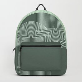 Geometric Lines in Sage Green 2 (Rainbow Abstraction) Backpack