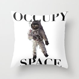 Occupy Space Throw Pillow
