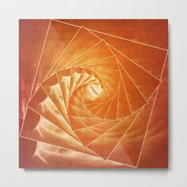 The Burning Eye Sees Spiral Metal Print